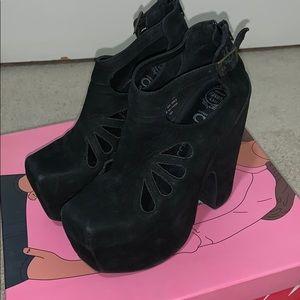 Jeffrey Campbell Shoes - Jeffrey Campbell Cuffed Black Platform 7